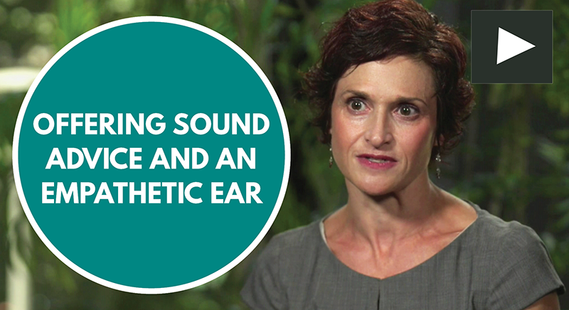 offering sound advice and an empathetic ear section