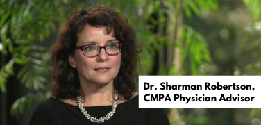 Dr. Sharman Robertson, CMPA Physician Advisor